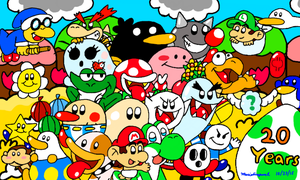 Yoshi's Island 20th Anniversary by MarioSimpson1