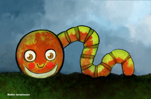 Worm by rubbe