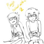 Playing Borderlands 2 by MemoriaSwan