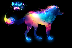 Cosmic Wolf Adopt - SOLD by TheFireGypsy