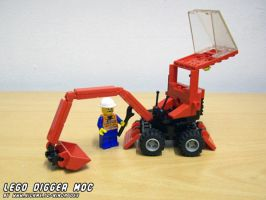LEGO Digger MOC easy access by ninjatoespapercraft