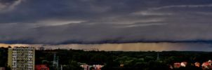 Panorama of shelf cloud. by ryplej