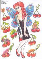 Sylvie and cherries by violet-grimm
