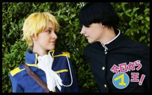 Yuuri and Wolfram Cosplay by TheSinisterLove