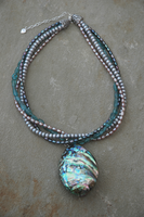 Abalone Shell and Pearls by LynnsBeadsNThings