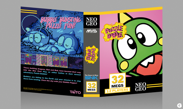 MVS Custom Covers - Puzzle Bobble by G-for-Galdelico