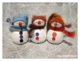 Three Snow Friends by JenniElfi