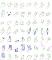 Hand References by WolvesInk