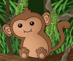 Monkey by Akei-Tyrian