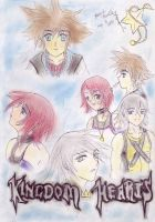 Kingdom Hearts Chalk Pastel by aquaticmistress92