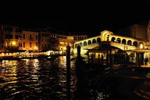 Rialto by night - Venice by wildplaces