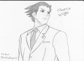 Phoenix Wright by BloodRedRaven69