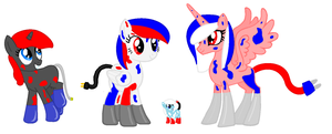 4th of July themed Lava Lamp Pony Adopts -closed- by EarrthMoonWarrior239