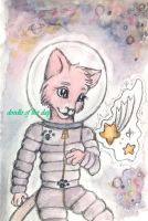 #123 Space cat by Doodle-of-the-day