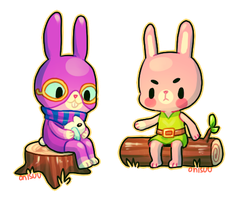 Animal Crossing AU - Ravio and Link (+spdpaint) by onisuu