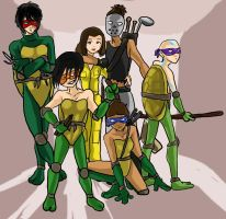 Teenage mutant ninja-benders? by Spidar