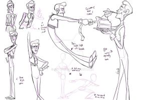 LazyTown - Robbie Rotten Concepts by EnvyQ00