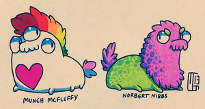 Munch and Norbert by Kaweki