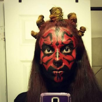 Darth Maul Halloween Makeup by anaisgomez