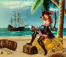 pirate pin up by anubisreddeath