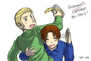 Hetalia: Germany and Italy by JammerLea