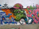 zombie graff by elbearone