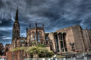 Coventry Cathedral HDR by nat1874