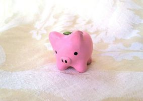 Pig Planter Figure by PinkChocolate14