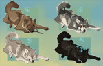 Natural Wolf Designs 1 : USD - CLOSED by Hlaorith