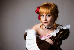 Beatrice cosplay close up by Bexxin