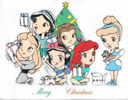 Disney Princess Kids Christmas by Anime-Ray