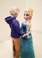 Jack and Elsa OOAK doll by frozenblume