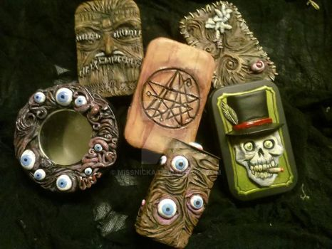 Sculpted Horror Tins by MissNicka
