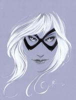 Black Cat Sketch by JonathanGlapion