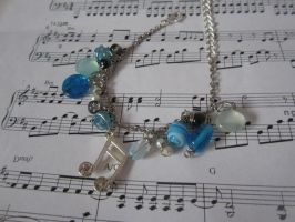 Music Charm Bracelet by bellybearz