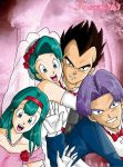 Vegeta-Bulma 25th Anniversary by gwendy85