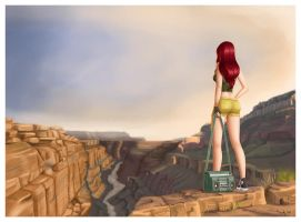 Kristen at the Grand Canyon by iurypadilha