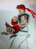 Ryu Street Fighter by Psych3d3lics