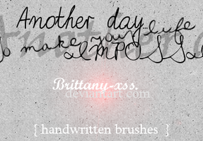 Brushes 01 Handwritten Revenge by brittany-xss