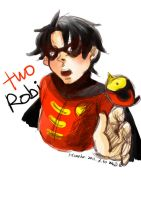 two robins robin doodle by himekoyana