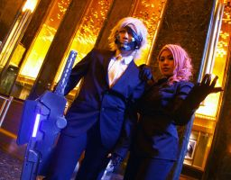 Raiden and Mistral Side by Side XD by ProVoltageCosplay