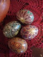 spring colours pysanky  by Haleys-Comet