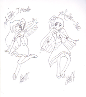 Angel Onne and Imouto by Airybutt