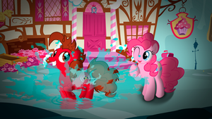 Playing in a puddle by Sparxyz