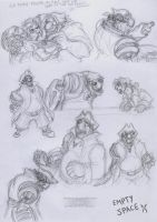 Mostly John Silver sketches by JWiesner