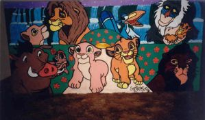 Lion King HS Panel Mural by foxyfennec