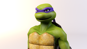 3DS Max - Donatello Render by SilverMoonCrystal