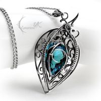 NARHZAR - silver and blue topaz by LUNARIEEN