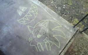 Chalk Drawings by 1horsey10