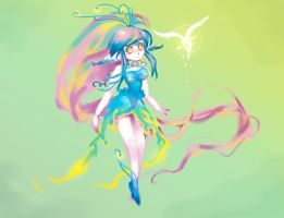 Rainbow Girl by sererena